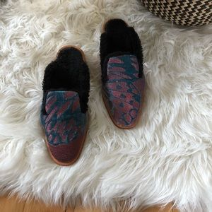 NEW Free People Butterfly Fur Mules